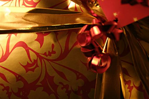 Gift wrapping close up - Free Stock Photo
