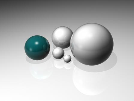 Reflecting Spheres - Free Stock Photo