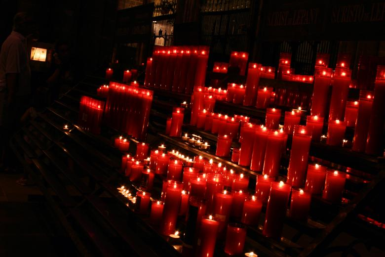 Free Stock Photo of Red Candles Created by damien van holten