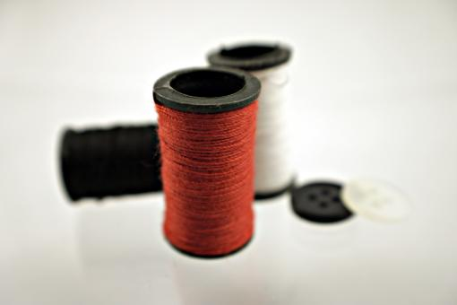 Red thread and buttons - Free Stock Photo