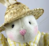 Free Photo - Easter rabbit with a hat