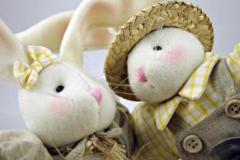 Free Stock Photo of Easter rabbits closeup Created by Bjorgvin