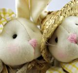 Free Photo - Easter rabbits closeup