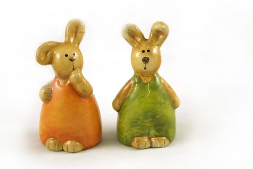 Easter rabbits - Free Stock Photo