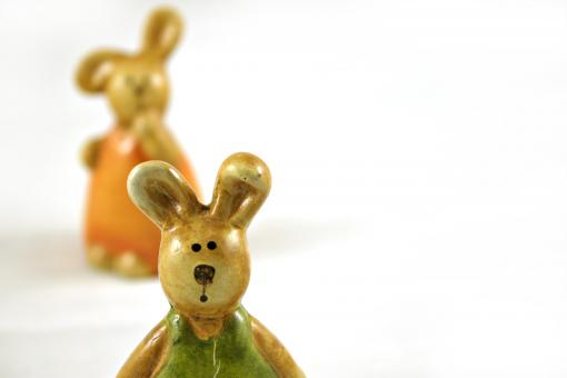 Easter rabbits - one closeup - Free Stock Photo