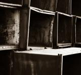 Free Photo - Piled metal boxes