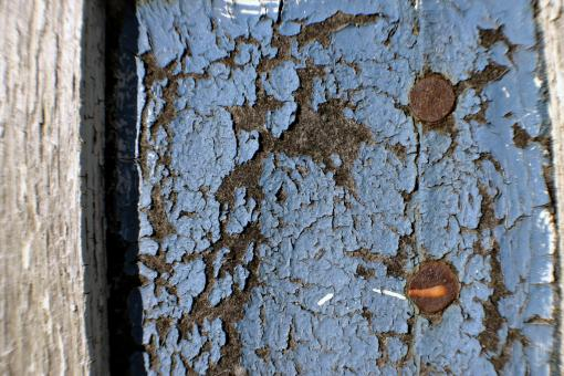 Cracked blue wall - Free Stock Photo