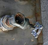 Free Photo - Old rusted tab