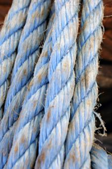 Blue rope - Free Stock Photo