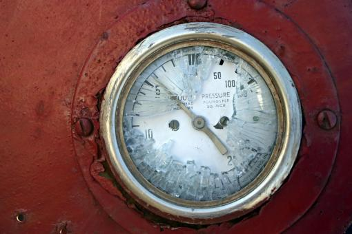 Broken oil meter - Free Stock Photo