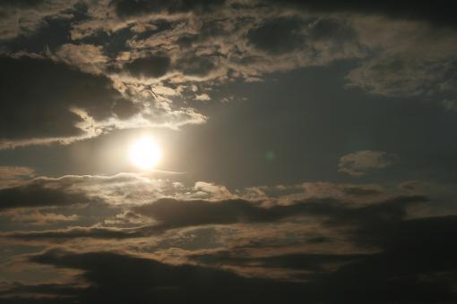 Sun behind clouds - Free Stock Photo