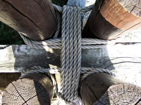 Tied rope - Free Stock Photo