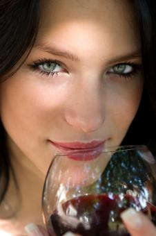 Woman and the Wine - Free Stock Photo