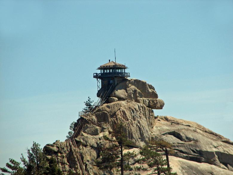 Free Stock Photo of Needles Fire Watch Lookout Tower Created by ruth n. webb