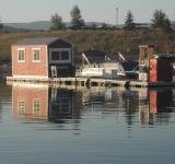 Free Photo - Boat dock reflections in the morning