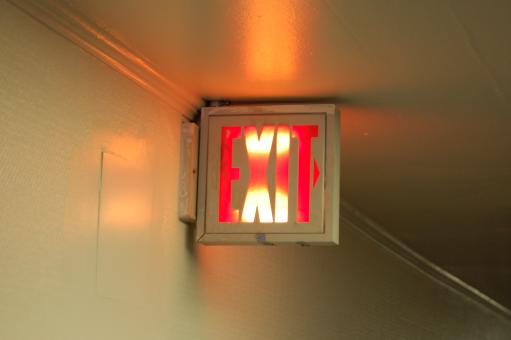 Exit sign - Free Stock Photo