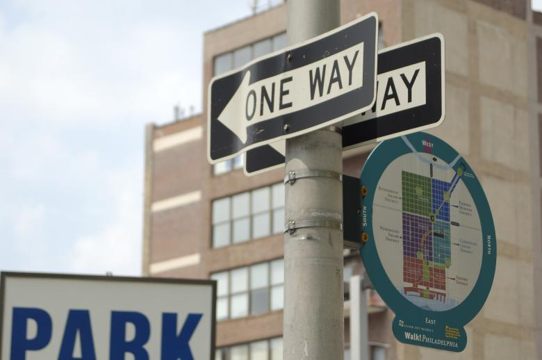 Free Stock Photo of One way sign Created by Mark Manalaysay
