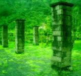 Free Photo - Green pillars