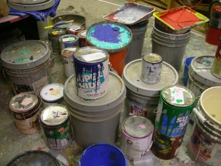 Paint cans - Free Stock Photo