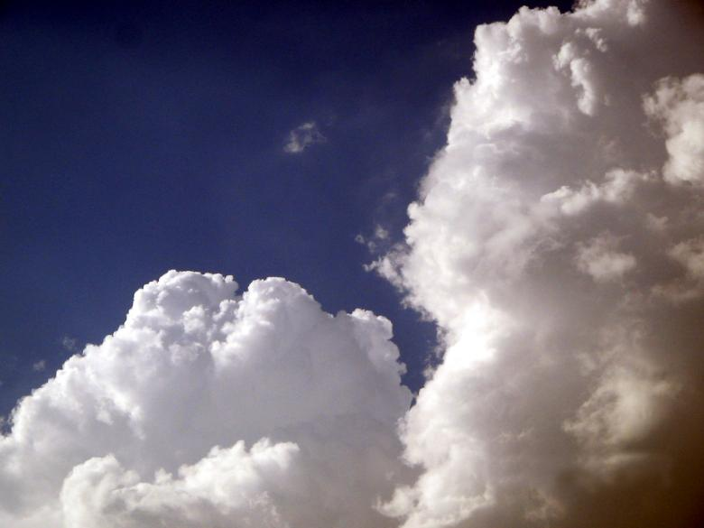 Free Stock Photo of Puffy clouds Created by rayudu
