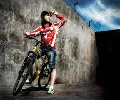 Urban biker - Free Stock Photo