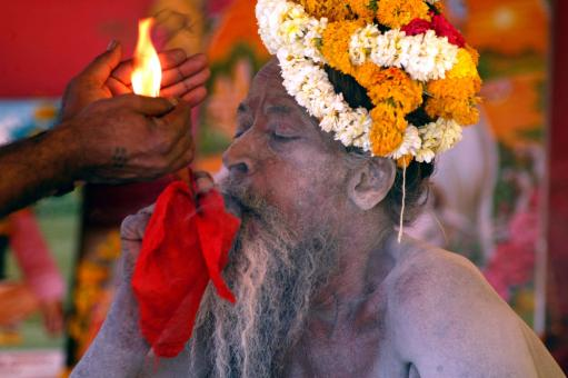 Hindu holyman - Free Stock Photo