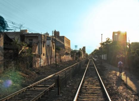 Sunset railway - Free Stock Photo