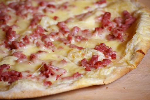 Alsacian pizza pie - Free Stock Photo