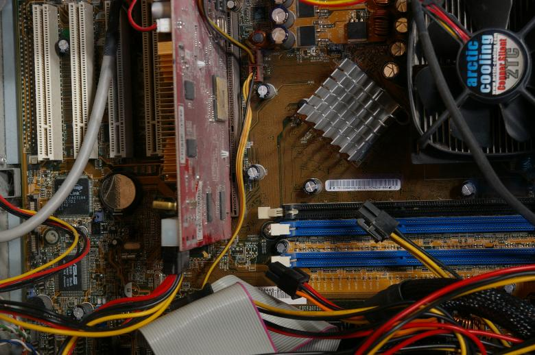 Free Stock Photo of Inside a computer Created by frhuynh