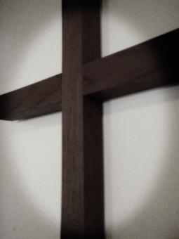 Wooden cross on the wall - Free Stock Photo