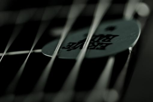 Guitar pick and strings - Free Stock Photo