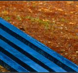 Free Photo - Blue bench