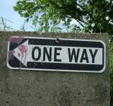 Free Photo - One way (with paintballs)