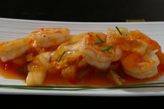 Asian shrimp recipe Free Photo