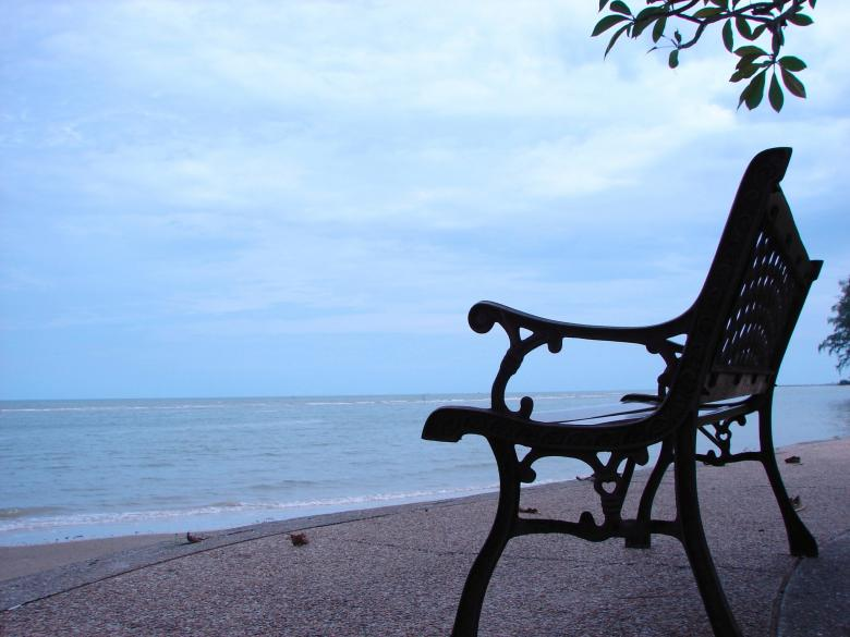 Free Stock Photo of Seaside Bench Created by Tossaporn Santad