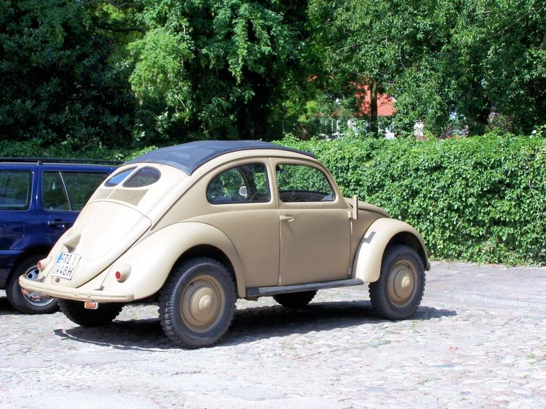 Old Volkswagen Beetle from World War 2 Free Photo