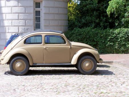 Old Volkswagen Beetle from World War 2 - Free Stock Photo