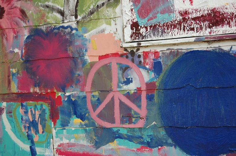 Painted Peace Sign Free Photo