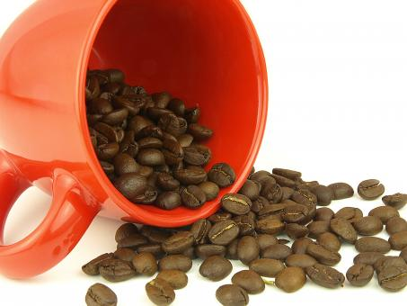 Coffee beans very close - Free Stock Photo