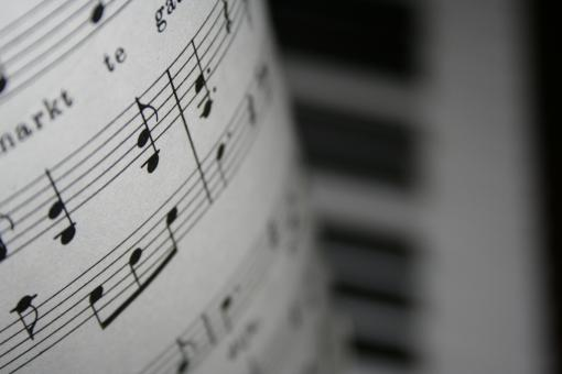 Free stock photo of notes and piano