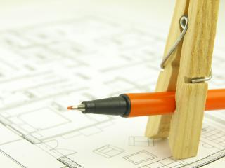 Build a house and architect tools Free Photo