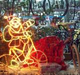 Free Photo - Neon Sporty Santa and bikes