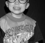 Free Photo - Child Close Up with Silly Glasses B&