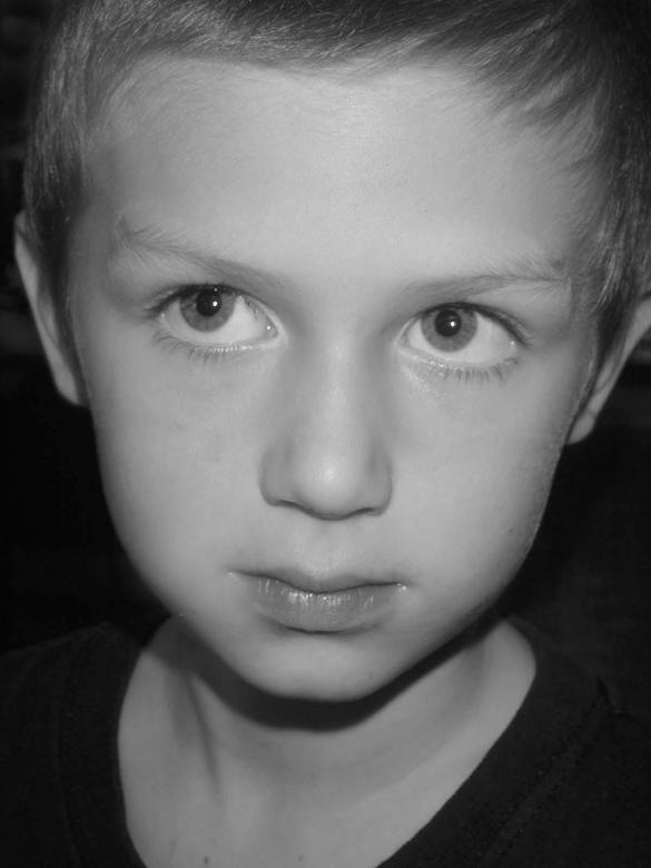 Free Stock Photo of Child Close Up  B&W Created by David Hensen