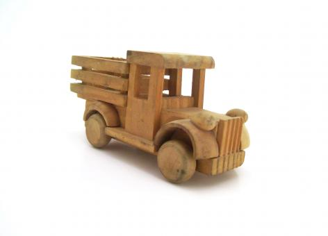 Wooden truck - Free Stock Photo