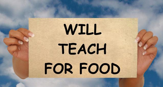 Teach for Food - Free Stock Photo