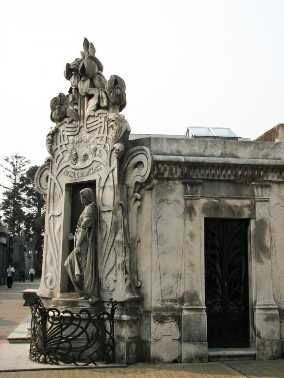 Art Nouveau Statue - Free Cemetery Stock Photos