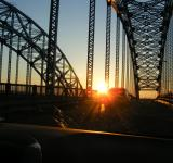 Free Photo - Sunset through a bridge