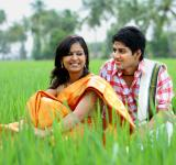 Free Photo - Couple sitting in a paddy field