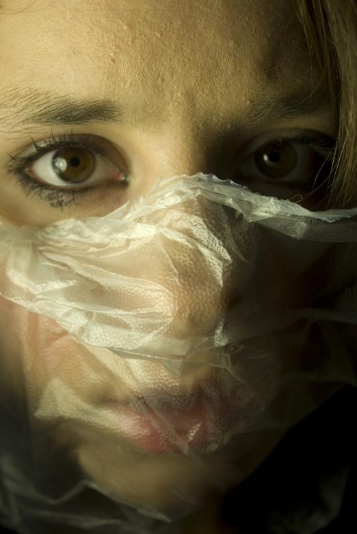 Free Stock Photo of Fear - Plastic over Face Created by Bina Sveda